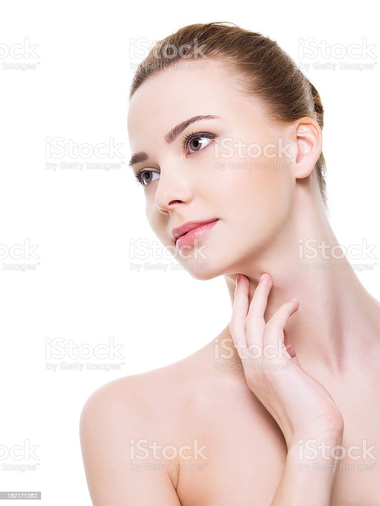 Beautiful health  woman face royalty-free stock photo