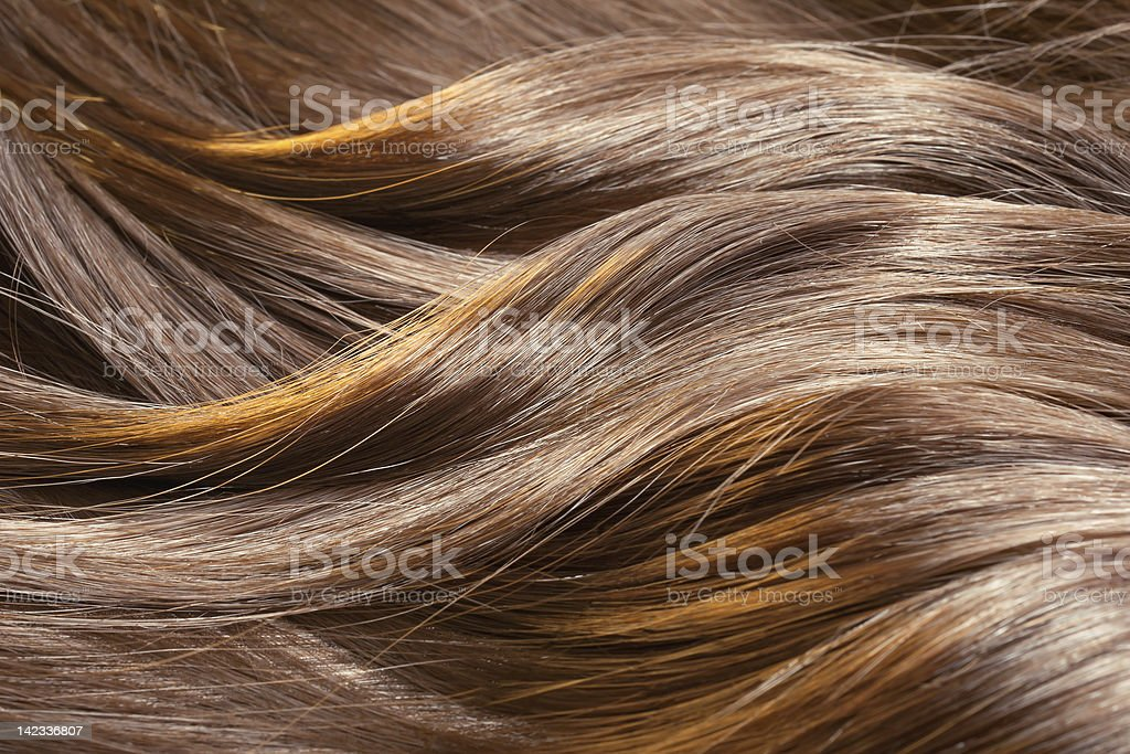 Beautiful healthy shiny hair texture stock photo