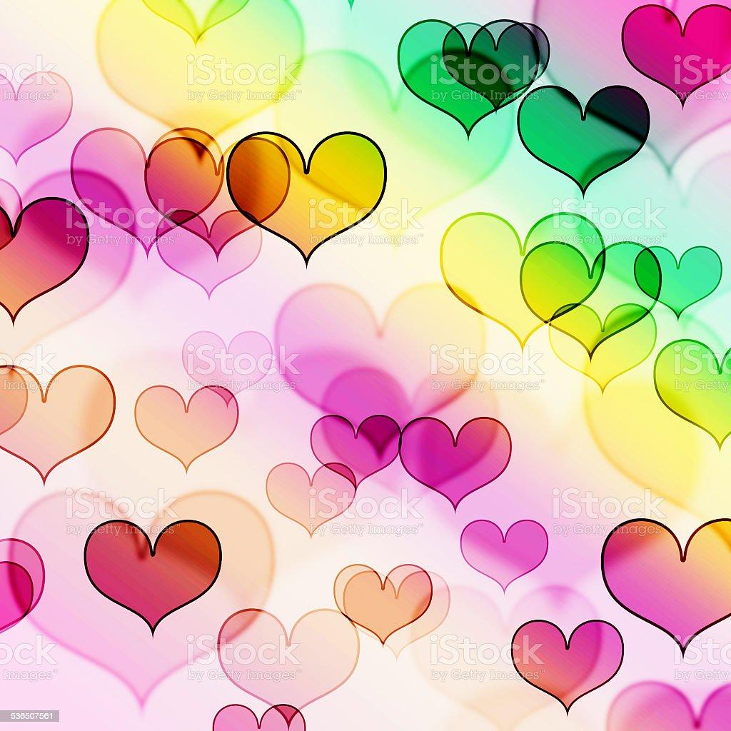 beautiful heart shape background stock photo