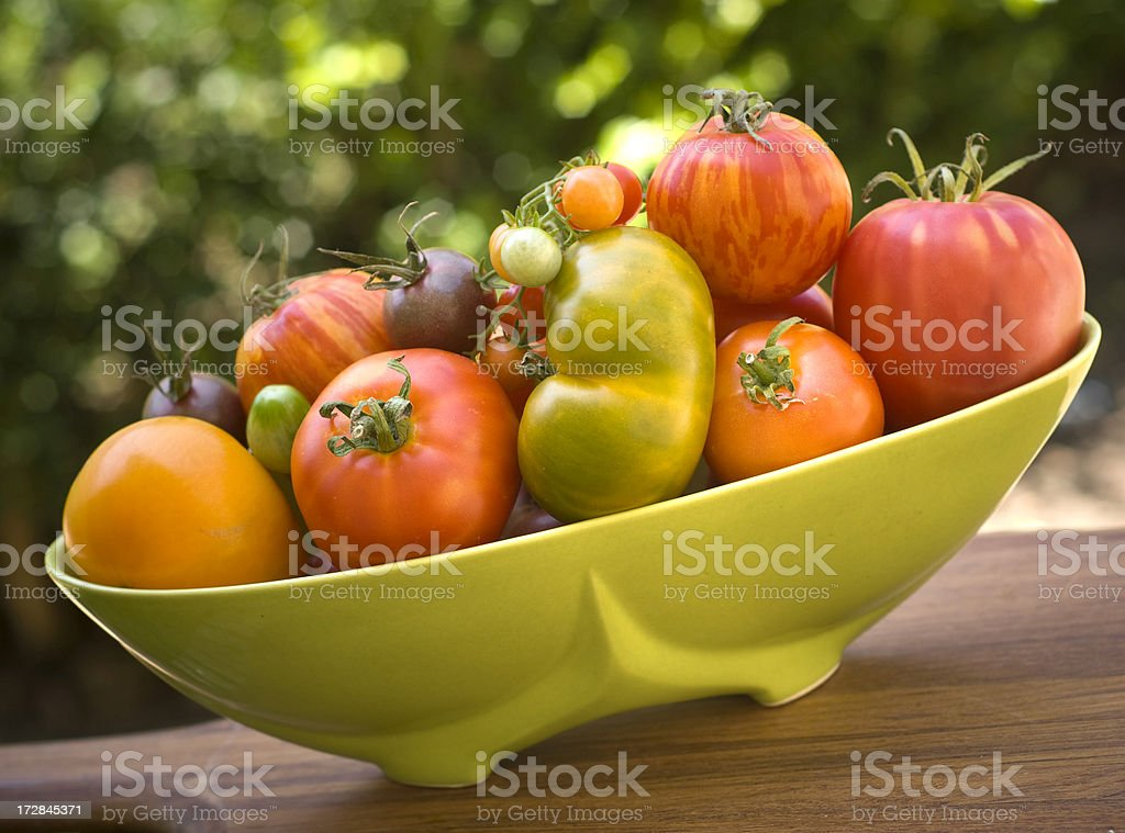 Beautiful Heirloom Tomatoes royalty-free stock photo