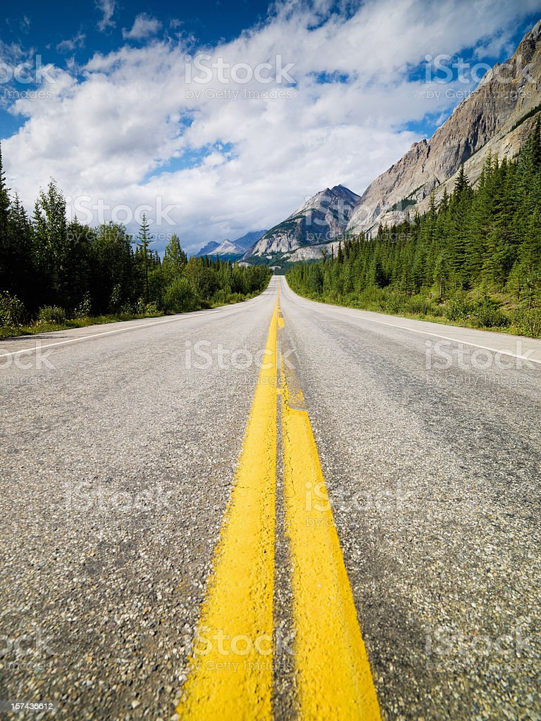 Beautiful Highway Rocky Mountains royalty-free stock photo