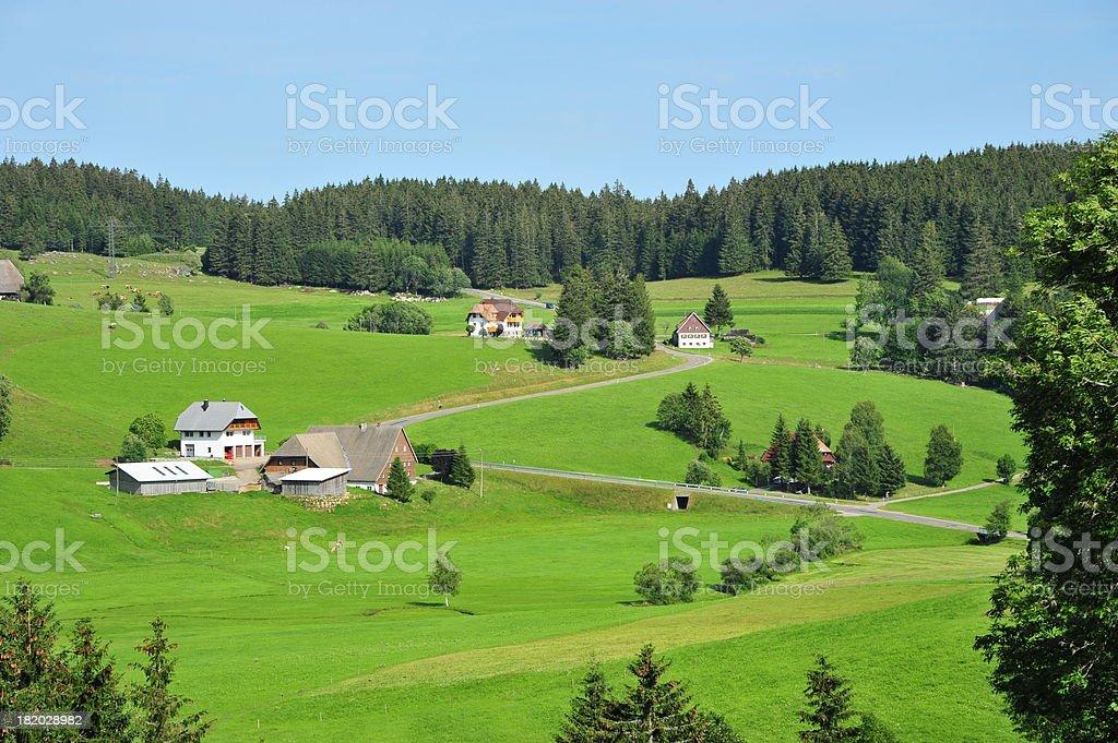 Beautiful Hill Scene royalty-free stock photo