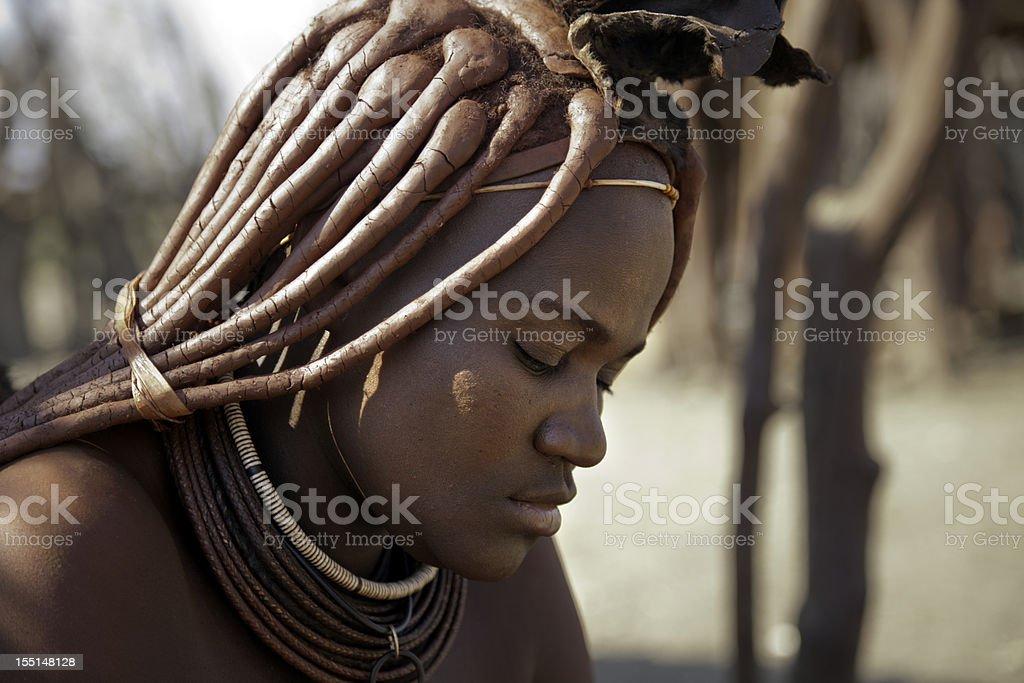 Beautiful Himba woman in Namibia stock photo