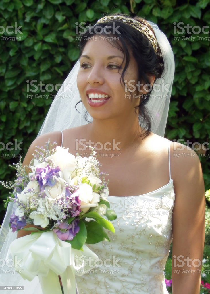 Beautiful Hispanic Bride royalty-free stock photo