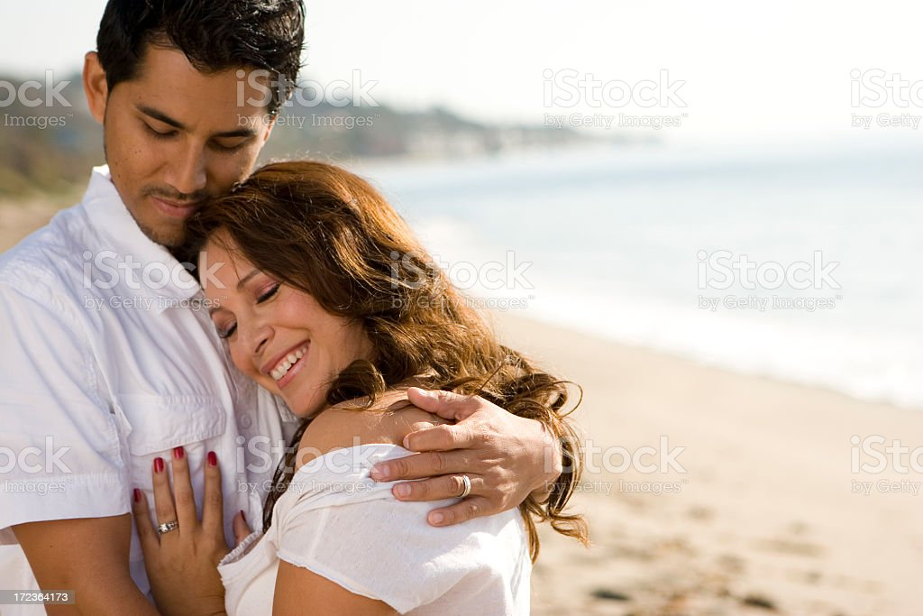 Beautiful Hispanic couple royalty-free stock photo