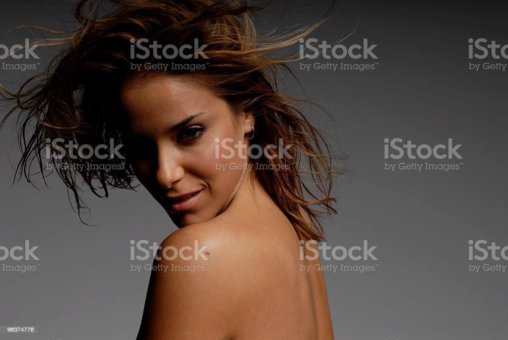 Beautiful Hispanic Ethnic Girl Headshot royalty-free stock photo