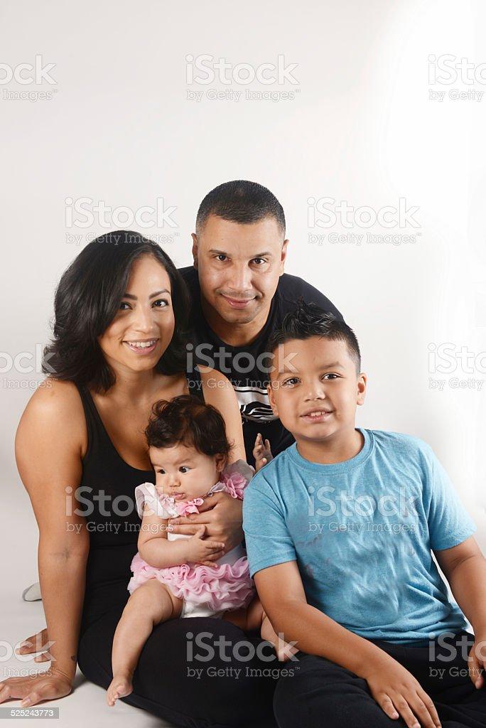 Beautiful hispanic family stock photo