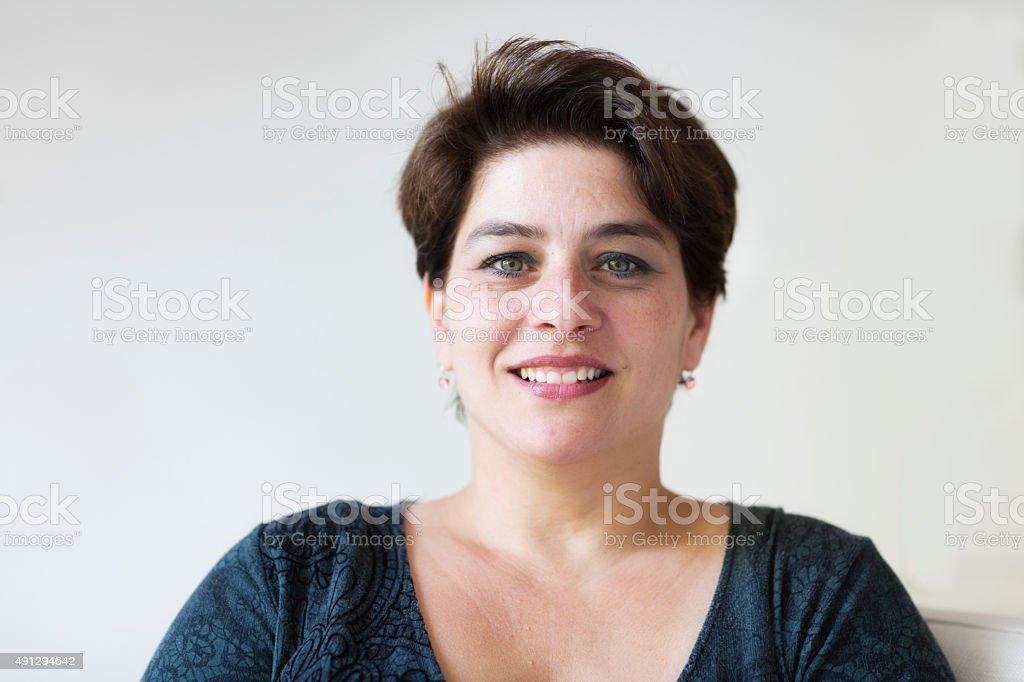Beautiful hispanic woman stock photo