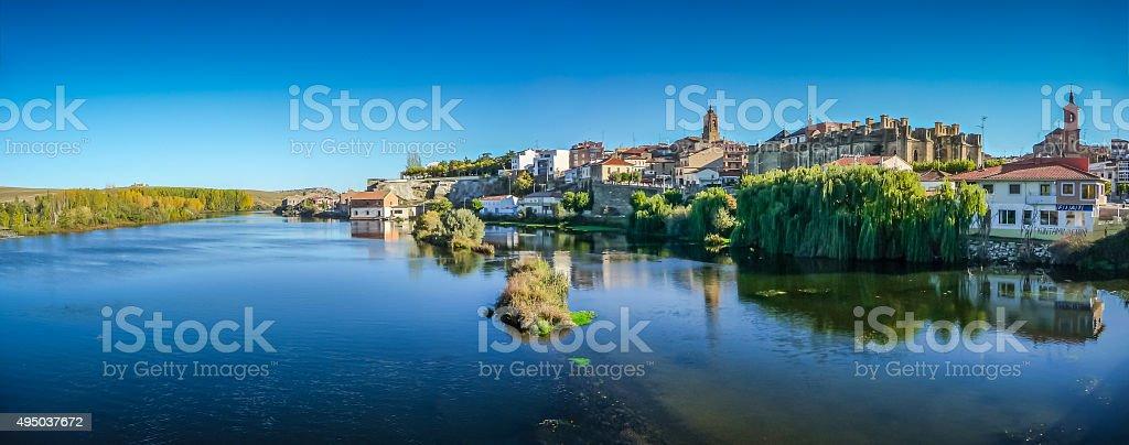 Beautiful historic city Alba de Tormes, Castilla y Leon, Spain stock photo
