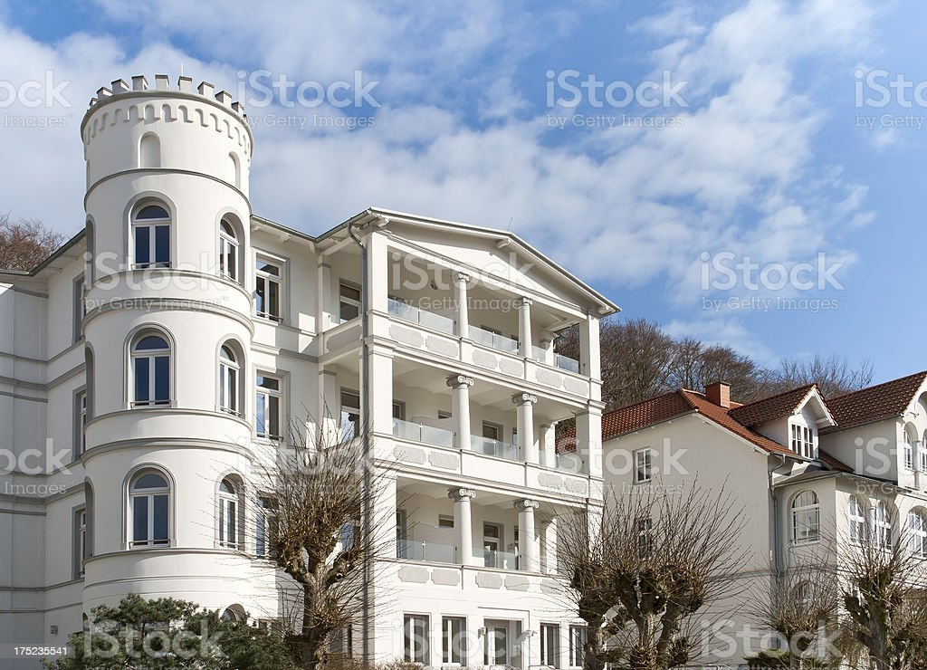 Beautiful Holiday Villas, Sellin royalty-free stock photo