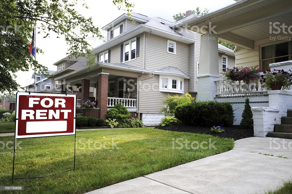 A beautiful home available for rent stock photo
