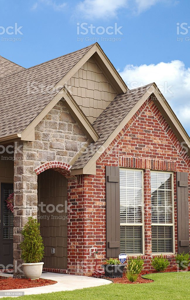 Beautiful Home Entryway stock photo
