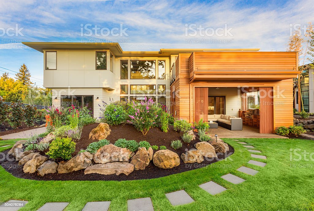 Beautiful Home Exterior stock photo
