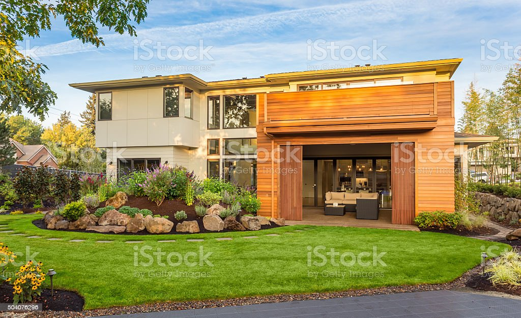 Beautiful Home Exterior stock photo