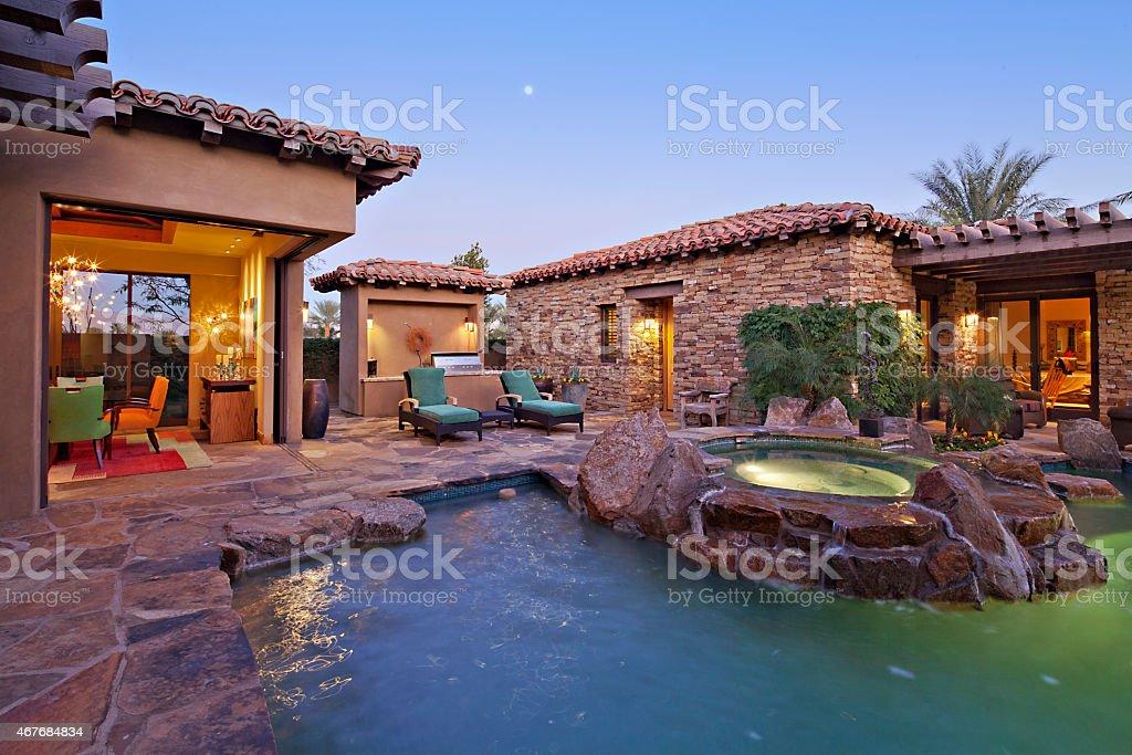 Beautiful Home in California stock photo