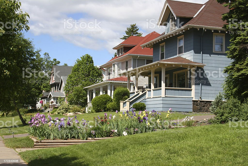 Beautiful Homes in Duluth stock photo
