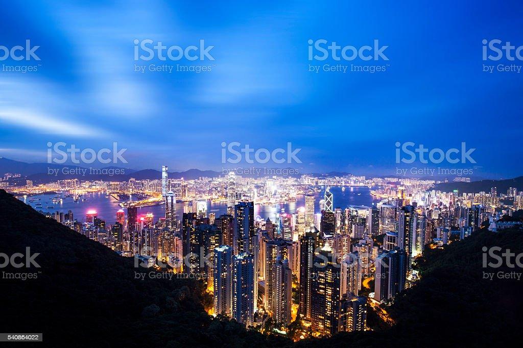 Beautiful Hongkong Night stock photo