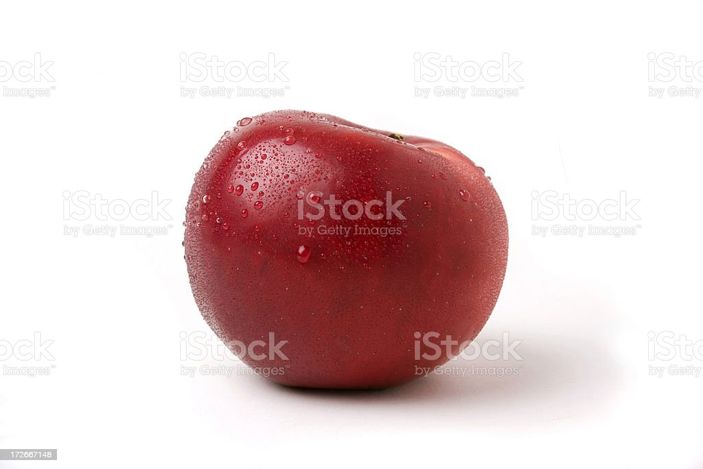 Beautiful Hood River Apple stock photo