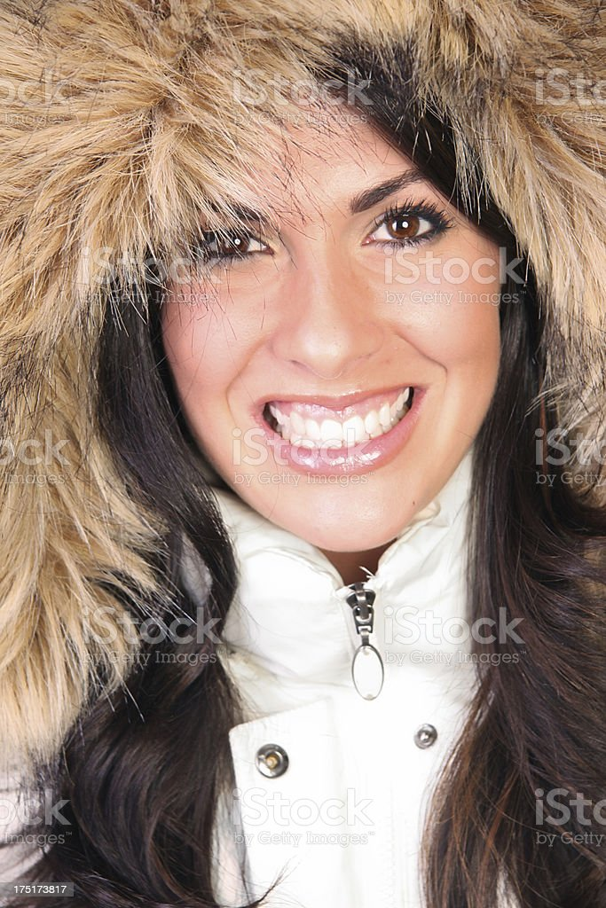 Beautiful hood smile royalty-free stock photo
