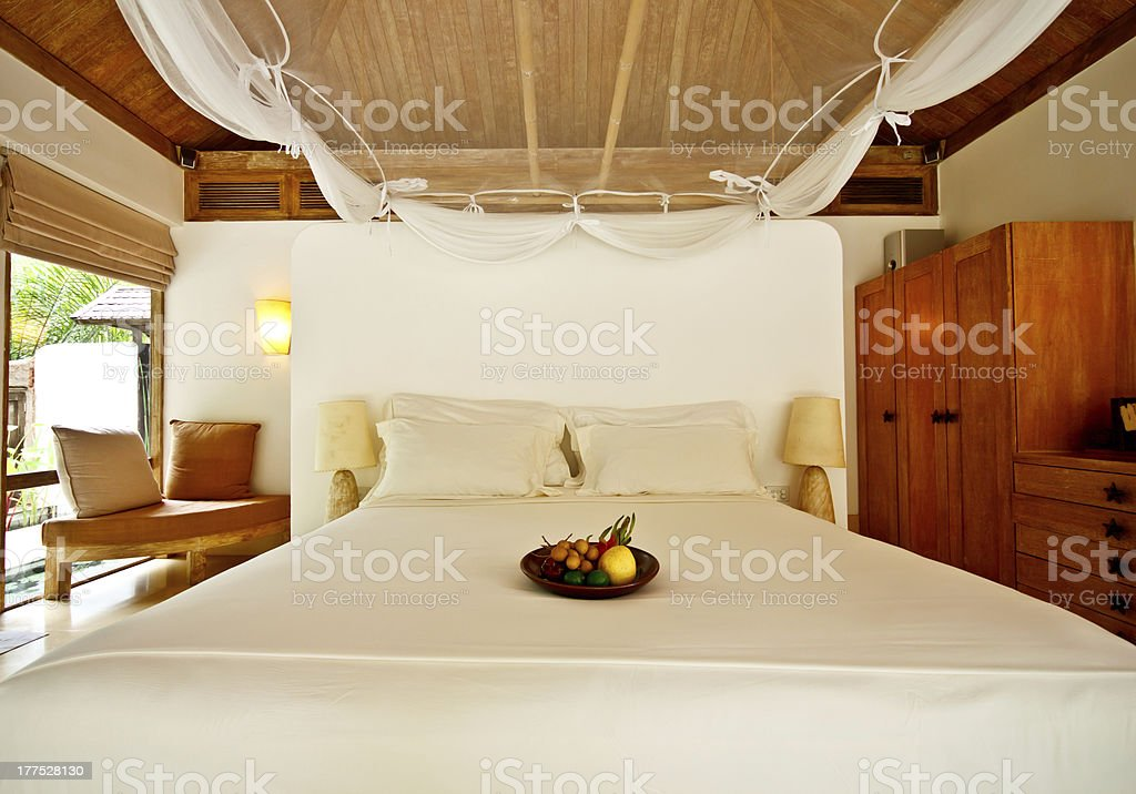 beautiful hotel room in Thailand royalty-free stock photo