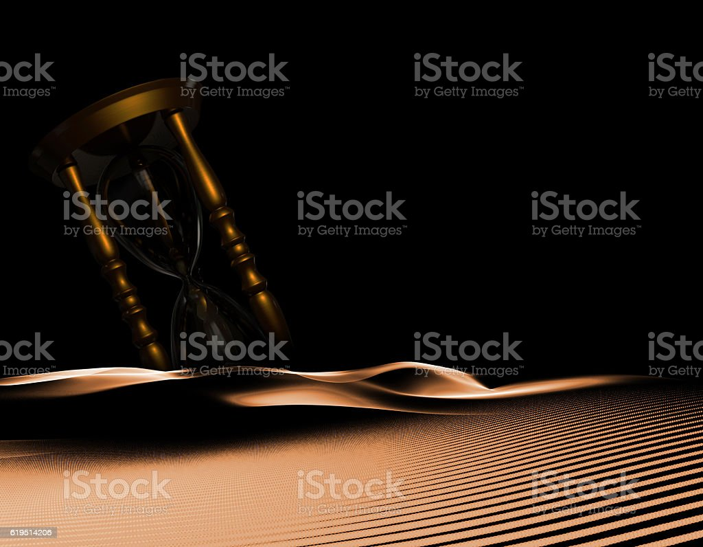 beautiful hourglass, time accumulation stock photo