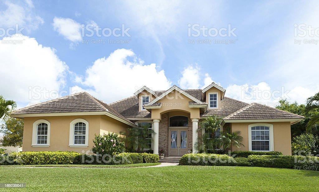 Beautiful House in Florida stock photo