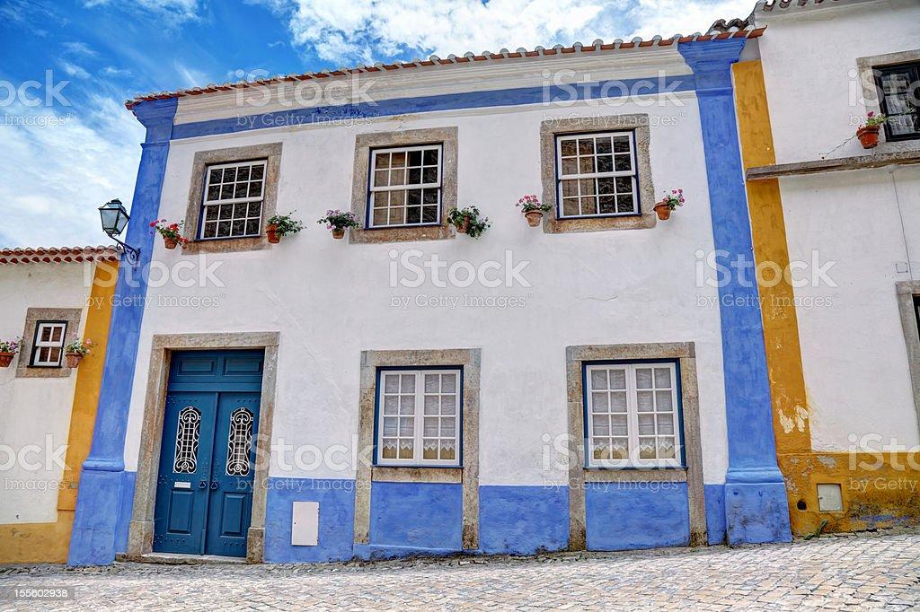 Beautiful house in Obidos stock photo