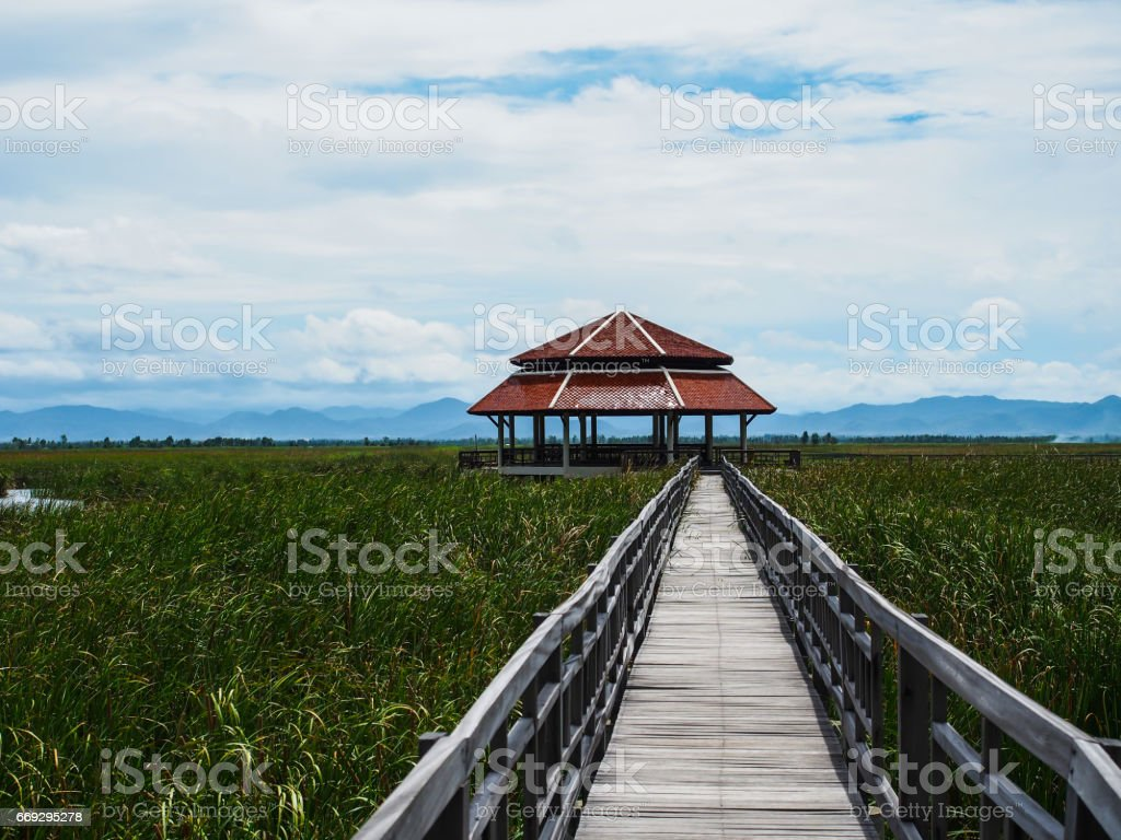 Beautiful house in the middle of the nature,  Khao Sam Roi Yot, Prachuap Khiri Khan, Thailand. stock photo
