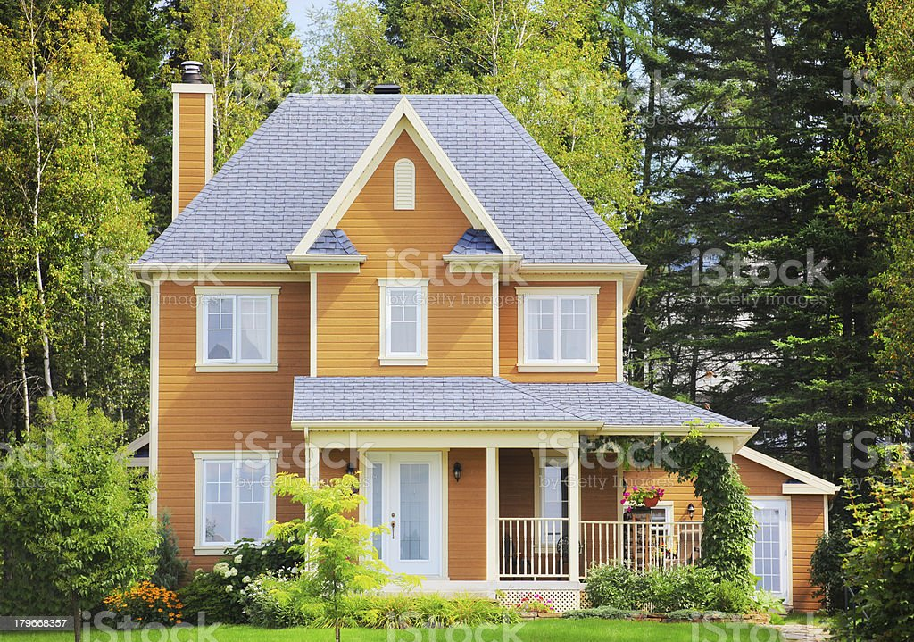 Beautiful House in the Woods royalty-free stock photo