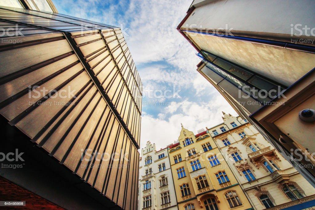 beautiful houses Czech Republic. Beauty world. stock photo