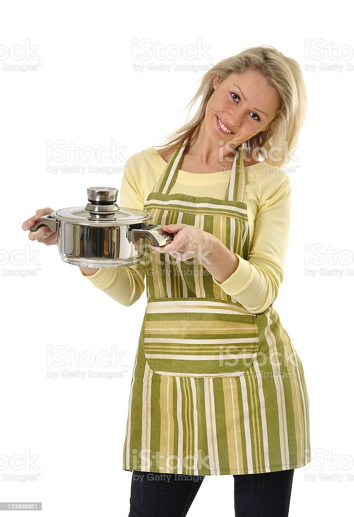 Beautiful housewife royalty-free stock photo