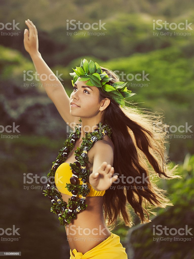 Beautiful Hula Dancer stock photo