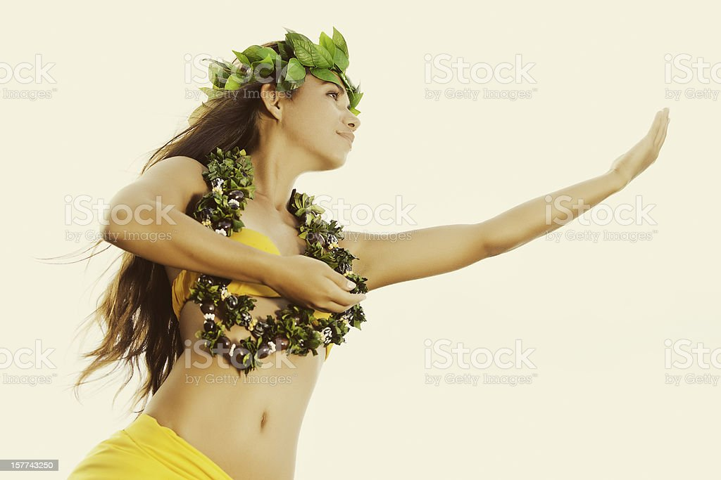 Beautiful Hula Dancer royalty-free stock photo