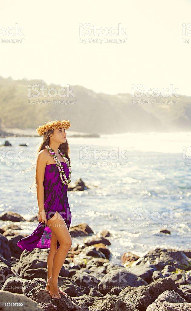 Beautiful Hula Dancer royalty-free stock photo