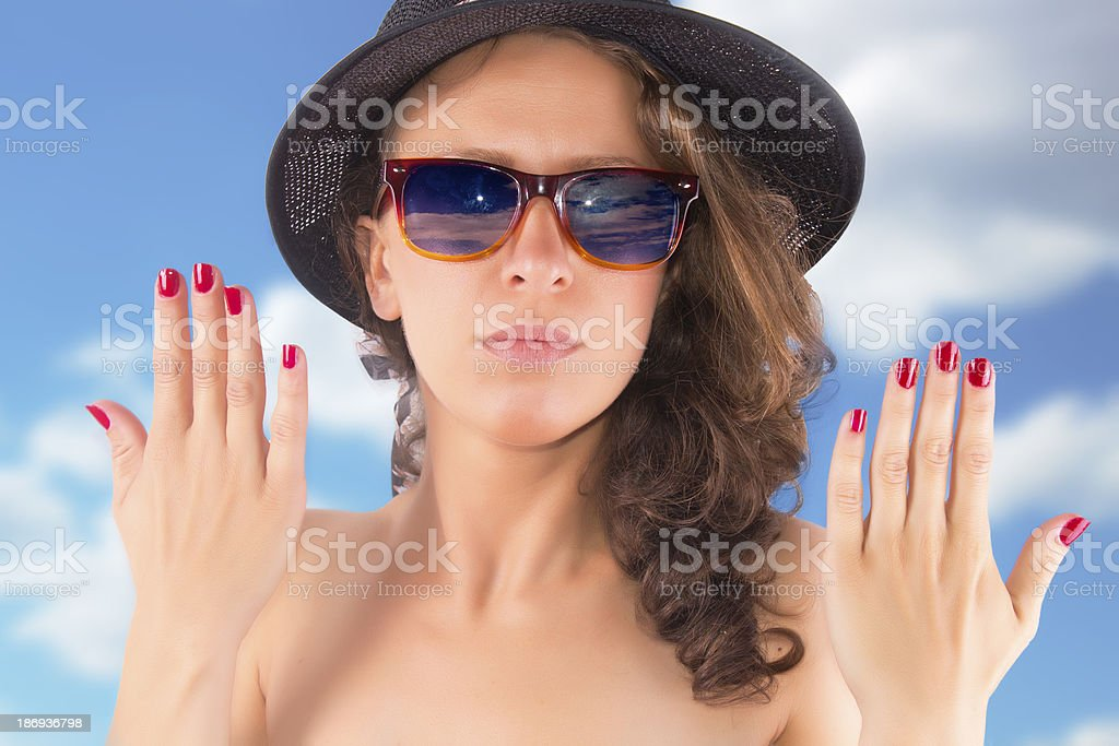 Beautiful human hand royalty-free stock photo