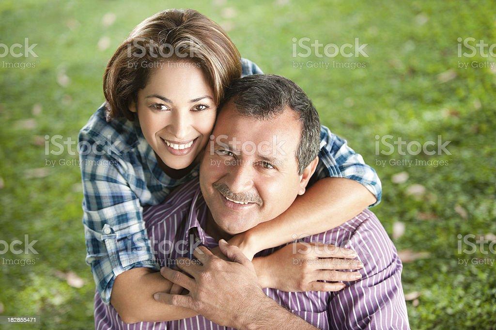 Beautiful husband and wife royalty-free stock photo