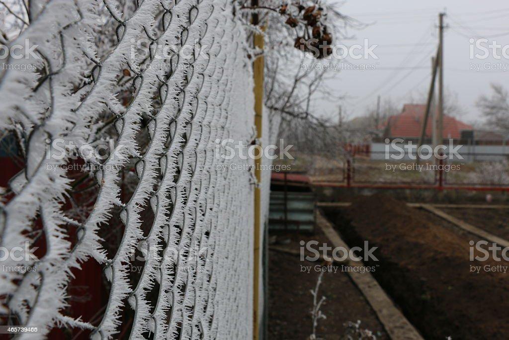 Beautiful ice crystal stock photo