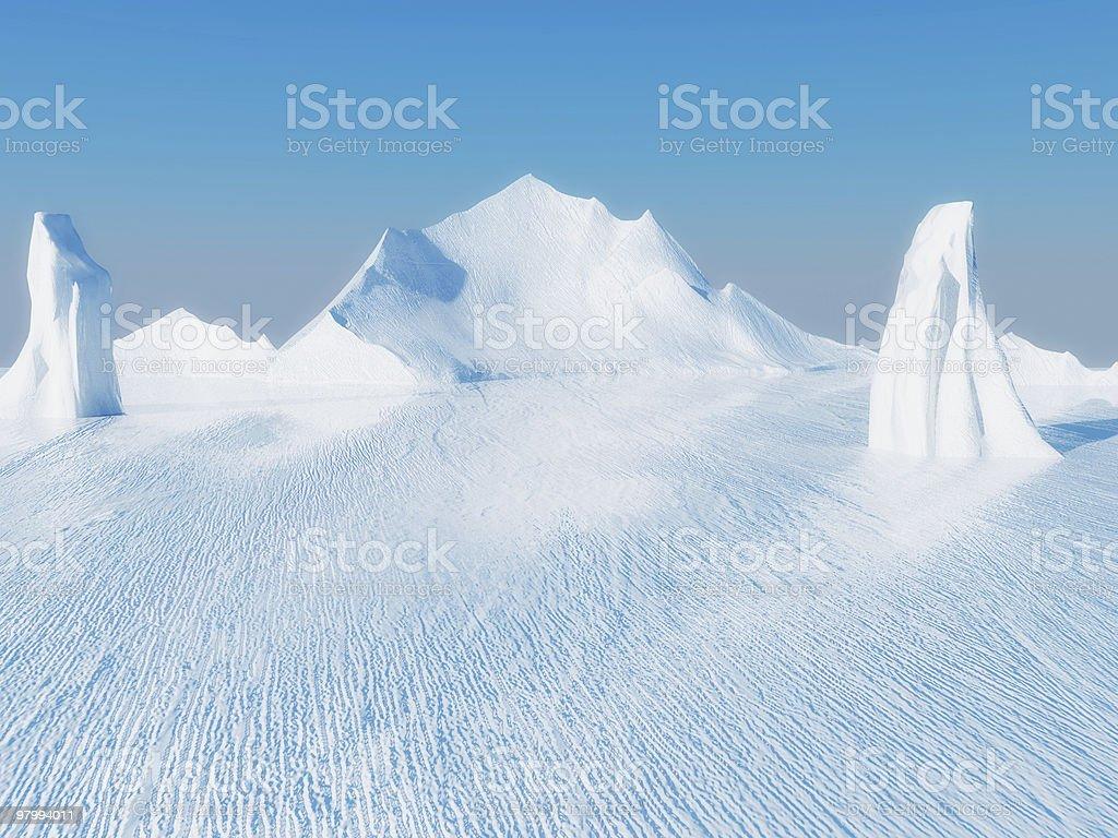 Beautiful ice landscape royalty-free stock photo