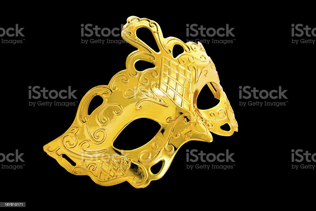 beautiful image of a gold carnival mask royalty-free stock photo