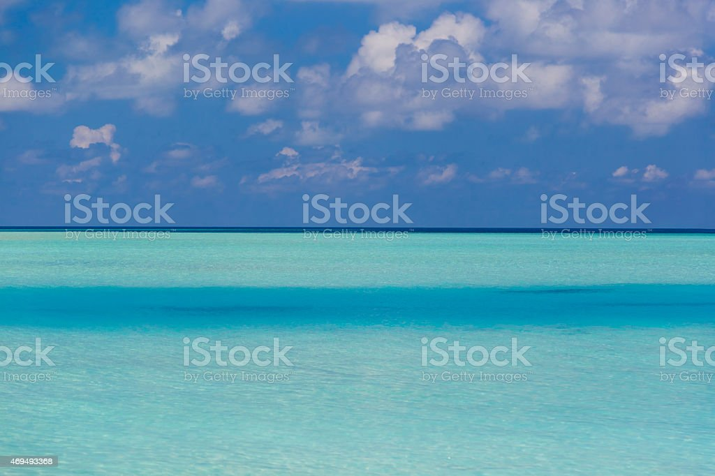 Beautiful Image of the Paradise, The Maldives. stock photo