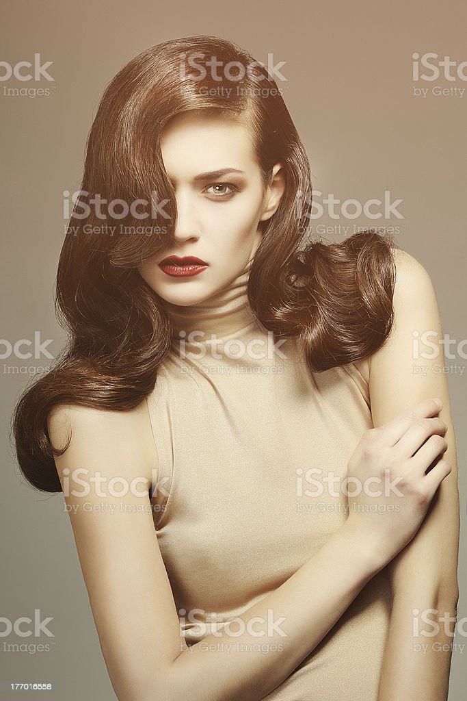 Beautiful image on a gray background royalty-free stock photo