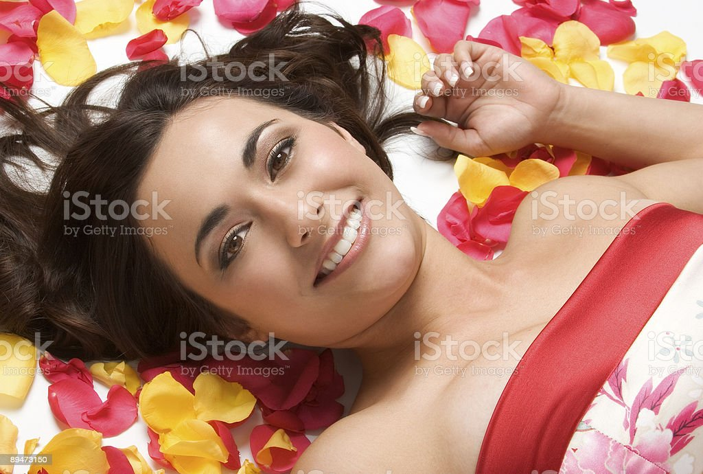 Beautiful in petals royalty-free stock photo