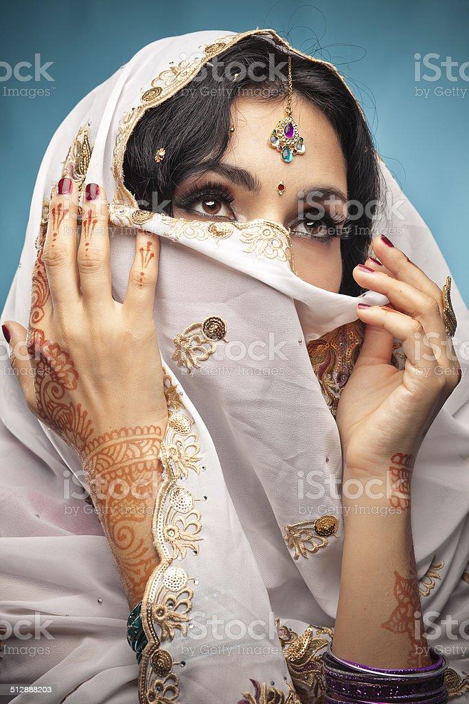 Beautiful indian brunette portrait stock photo