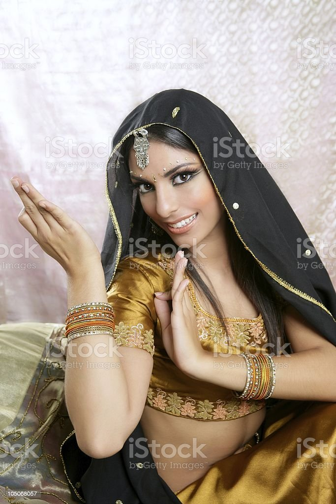 Beautiful indian brunette woman portrait royalty-free stock photo