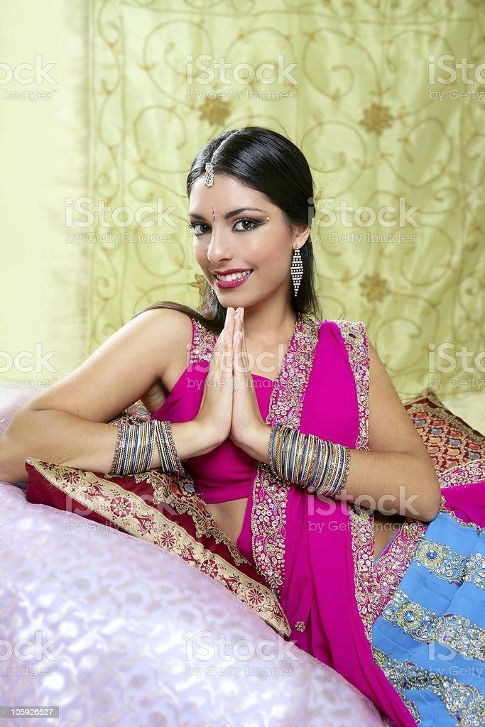 Beautiful indian brunette woman portrait royalty-free stock photo