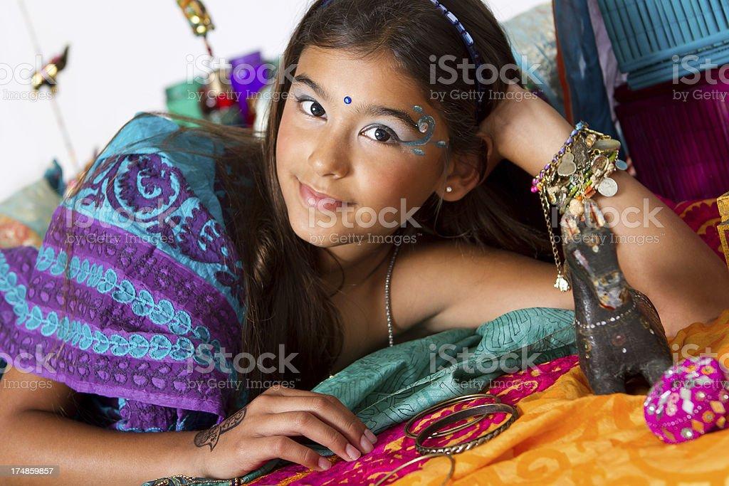 Beautiful indian girl royalty-free stock photo