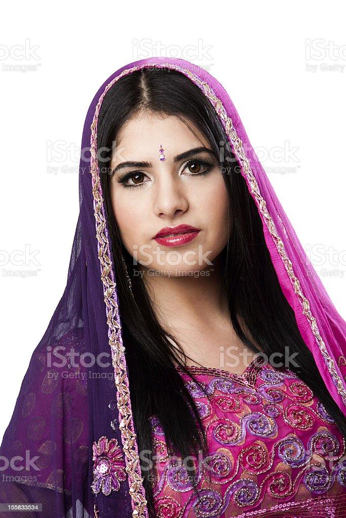 Beautiful Indian Hindu woman royalty-free stock photo