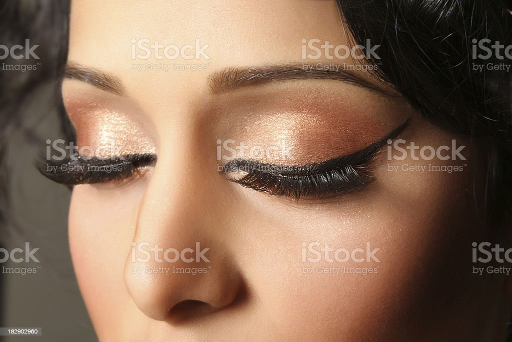 Beautiful Indian Model Headshot Close-up royalty-free stock photo