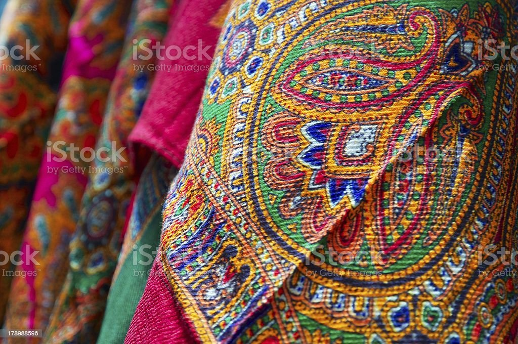 beautiful Indian pattern scarf royalty-free stock photo
