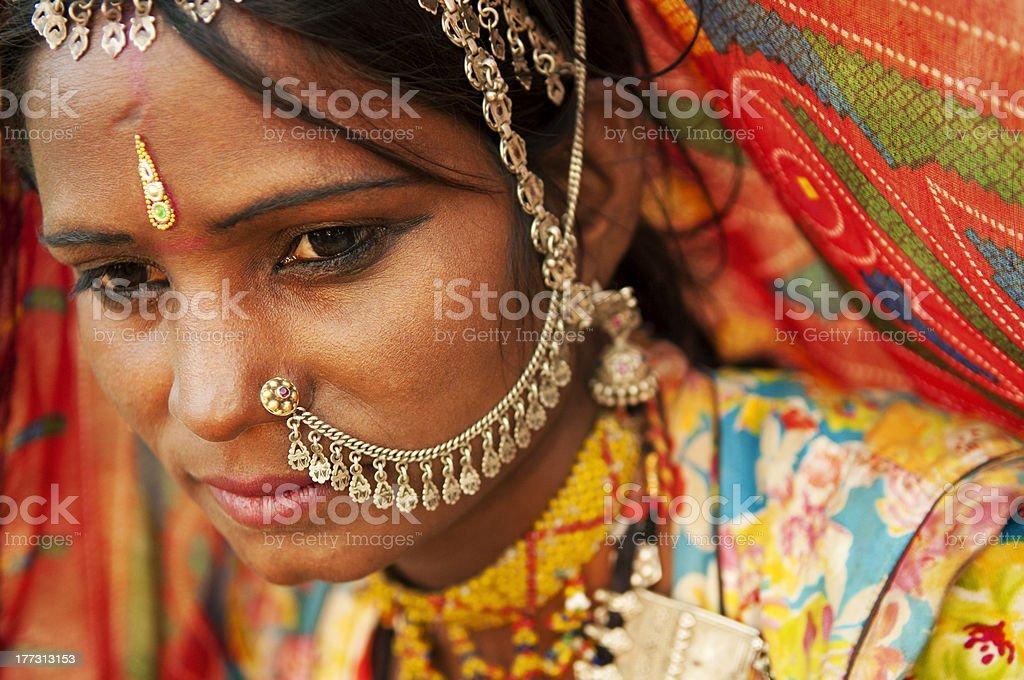 Beautiful Indian royalty-free stock photo